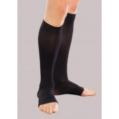 15-20 mmHg Opaque Knee High Short Open-Toe, for men & Women, Small Short Black