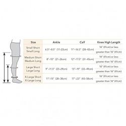 15-20 mmHg Opaque Knee High Short Open-Toe, for men & Women, Small Short Black