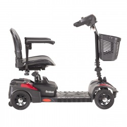 "Scout Scooter 4-Wheel, 17.5"" Folding Seat, 300 lbs Capacity"