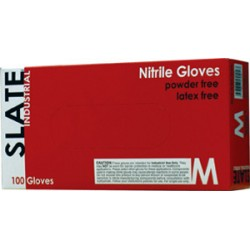 Slate Black Nitrile Gloves, Industrial Powder Free, 100/Box