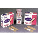 "Plastic Bandages Strip .75"" x 3"" 100/Bx 24Bx/Cs"