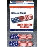 "Vinyl KidsStrip Bandages Freedom Flag 3/4"" x 3"" 60/Bx 24Bx/Cs"