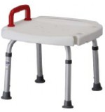 ADJ Shower Bench W/Red Handle