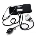 Home Aneroid Blood Pressure Kit in a Box, Black W/ Lg. Cuff