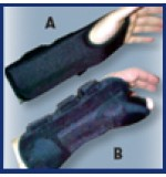 "Left Hand Wrist Support Brace 8"" Black"