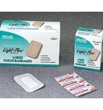 "Light Flex Fabric Strip Bandages 2"" x 3"" 100/Bx 12Bx/Cs"
