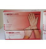 Medi Guard PF Vinyl Exam Gloves Lg.