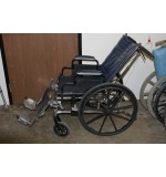 "Used Recliner Wheel Chair,  Invacare Tracer SX5, 18"" Dark Blue W/Leg Rest"